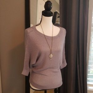 Express shimmery silver gray top